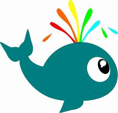 Sea Animals Cartoon Creatures Clip Whale Transparent