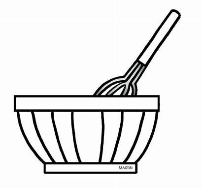 Bowl Mixing Clipart Baking Clip Drawing Mix