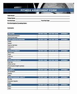 6 sample training assessment forms sample templates With personal training assessment template