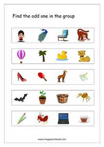 Odd One Out Worksheets