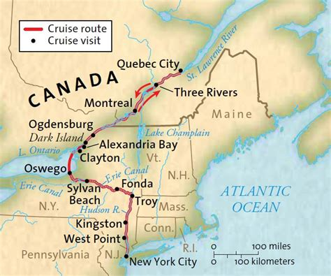 Montreal To Quebec City By Boat by Locks Legends Canals New York To Montreal