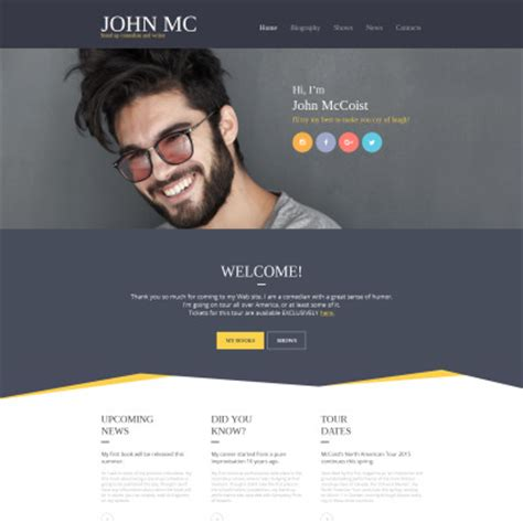 Personal Website Templates Personal Pages Templates Templatemonster