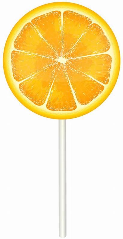 Lollipop Orange Clip Clipart Transparent Yopriceville