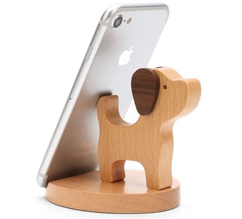 Holder Iring Stand wooden shaped mobile phone holder stand wooden