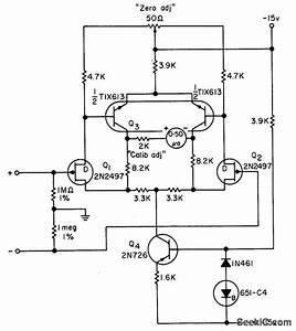 Fet D C Millivoltmeter 1 - Power Supply Circuit