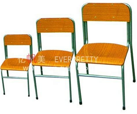 height adjustable wooden student chair with metal legs