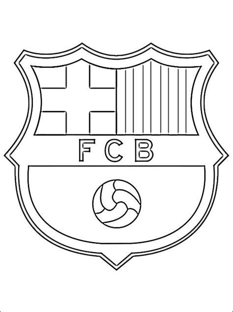 Fc Barcelona Kleurplaat by Fc Barcelona Logo Kleurplaat Gratis Kleurplaten