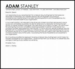 network security engineer cover letter sample livecareer With cover letter for information security job