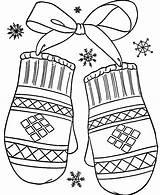 Mittens Coloring Winter Gloves Sheets Preschool Printable Colorluna sketch template