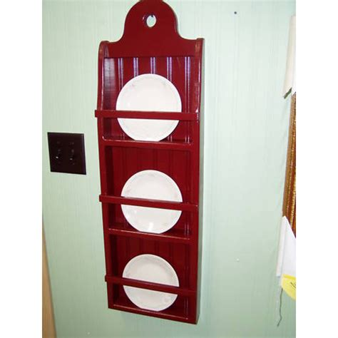 pine  rack plate rack display shelf wood country display
