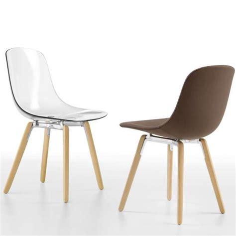 chaise pied en bois chaise design en plexi pieds bois loop wooden