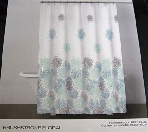 dkny shower curtain dkny brushstroke floral fabric shower curtain 72 quot x 72