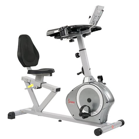 Sunny Health & Fitness Magnetic Recumbent Desk Exercise ...
