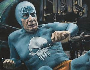 Artists that rock fast times of an aging superhero for The life and times of an elderly superhero captured in oil paintings by andreas englund