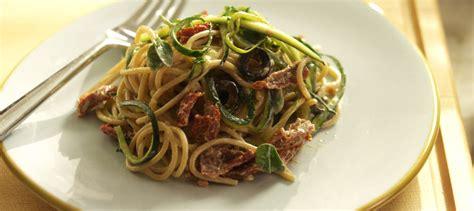 cuisiner une courgette spaghetti spaghetti aux courgettes aux tomates séchées et au