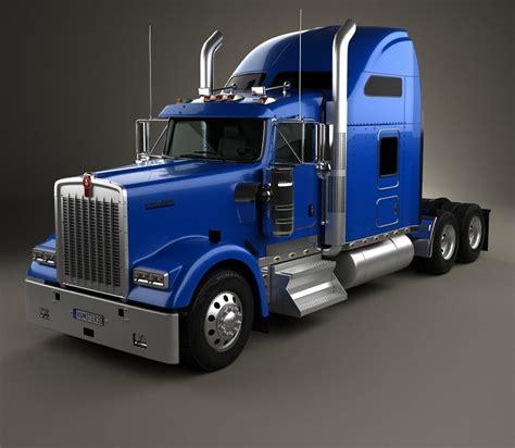 all kenworth trucks kenworth w900l tractor truck 2005 3d model humster3d