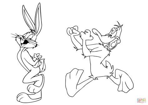 Dibujo De El Pato Lucas Persigue A Bugs Bunny Para