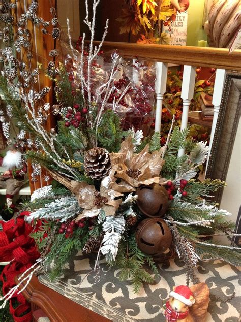 christmas winter floral arrangements images