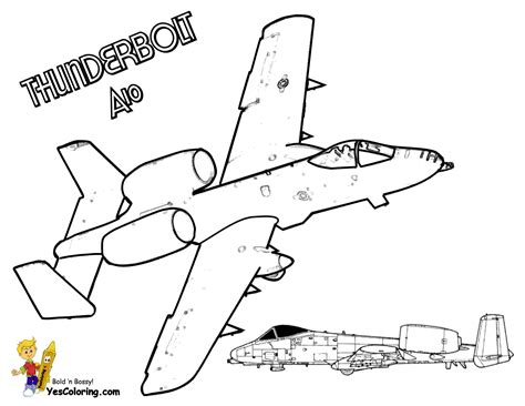 A 10 Warthog Coloring Pages Mach Airplane Coloring Pages Airplanes Free