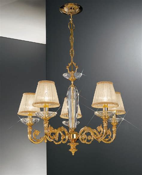 kolarz contarini 5 light gold chandelier with shades
