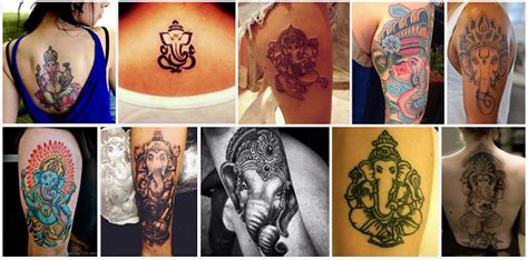 lord ganesh tattoo designs  meanings