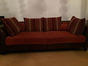 Big Sofa Sessel : big sofa kolonialstil mit hocker in offenbach polster sessel couch kaufen und verkaufen ber ~ Markanthonyermac.com Haus und Dekorationen