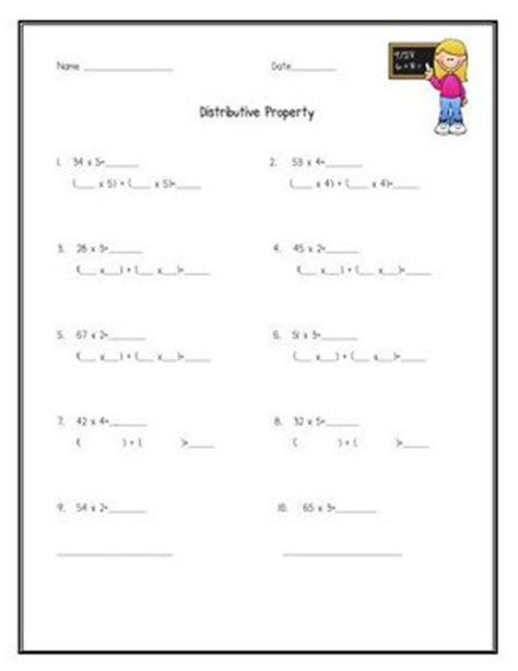 Distributive Property Of Multiplication Using Arrays Worksheets  Higgins Jodi Operations And