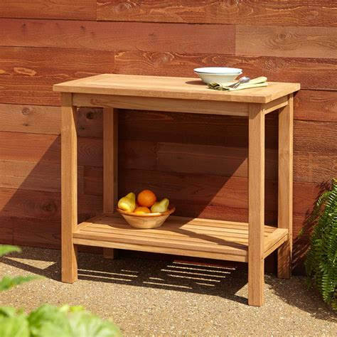 Outdoor Sideboard Table by 48 Quot Teak Sideboard Home Accents