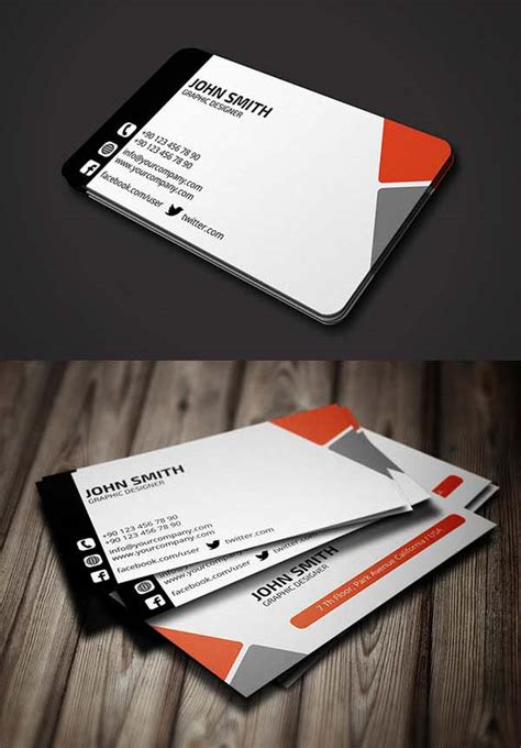 modern business cards examples  inspiration design