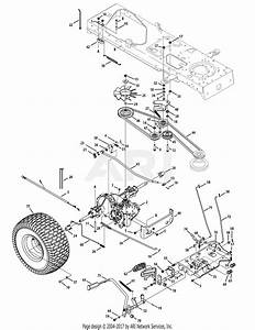 Mtd 13ax615g055  2008  Parts Diagram For Drive System