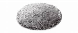 tapis shaggy rond gris 150 cm ugo miliboo With tapis rond gris 120 cm