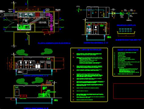 electrical subestacion dwg section  autocad designs cad