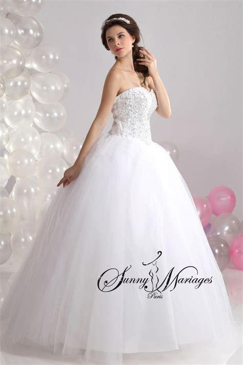 robe de mariage robe de mariage blanche forme princesse pas chere