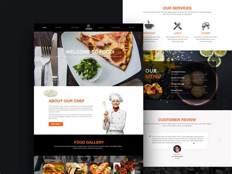restaurant website templates psd website templates part 3 mooxidesign