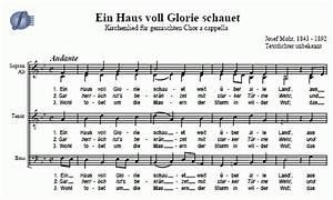 Wir Würden Uns Freuen Englisch : ein haus voll glorie schauet kirchenlied josef hermann mohr noten zum download ~ Yasmunasinghe.com Haus und Dekorationen