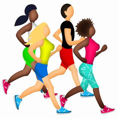 Emoji Running Clipart Exercise Runner Marathon Transparent