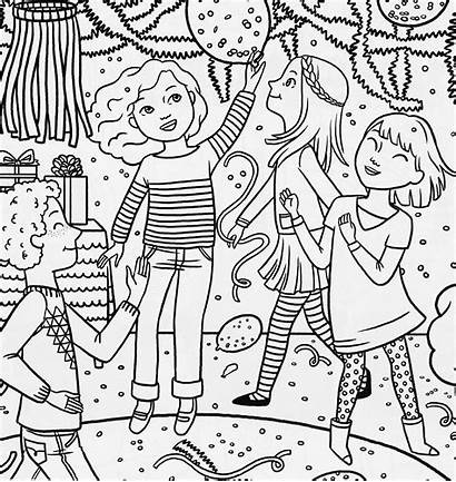 Coloring Pages Birthday American Doll Party Magazine