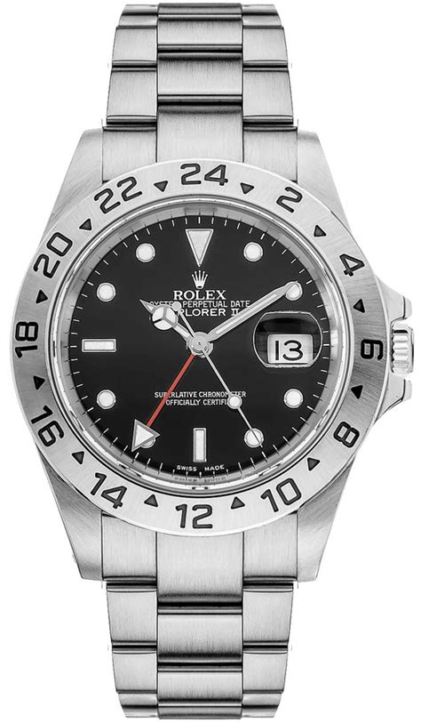 16570 Rolex Explorer II Auto Chronometer Dual Time Zone Watch