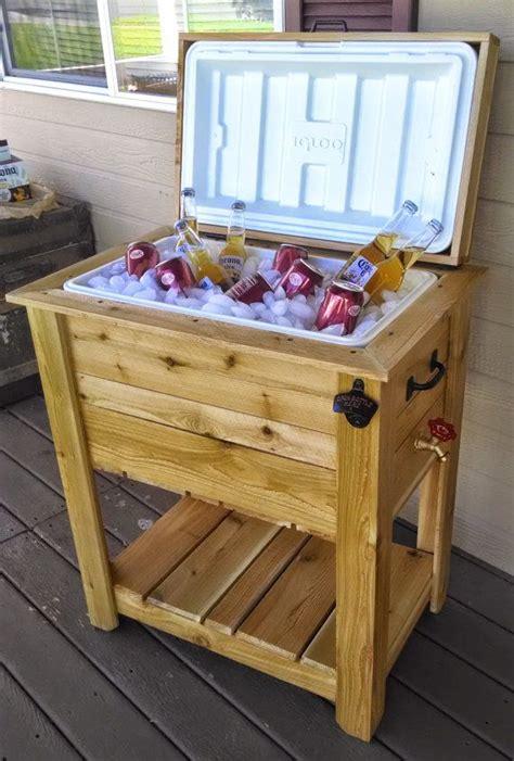 ice chest cooler box western red cedar  maefurniture  etsy decor pinterest western red