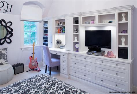 built in wall unit with desk and tv wall units with desk home office contemporary with artwork
