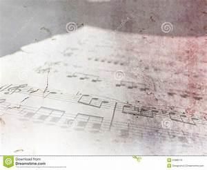 Vintage Piano Sheet Music - Grunge Notes Stock Photo ...