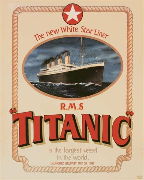 Titanic Boat Poster by Poster White Star Line Rms Titanic Unsinkable