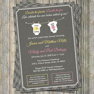 joint baby shower invitation onesies by freshlysqueezedcards With joint wedding shower