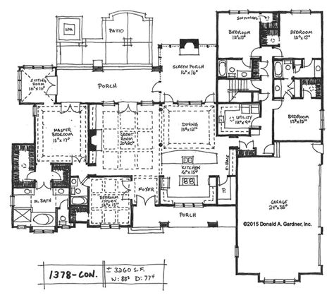 large kitchen floor plans house plans with large kitchens