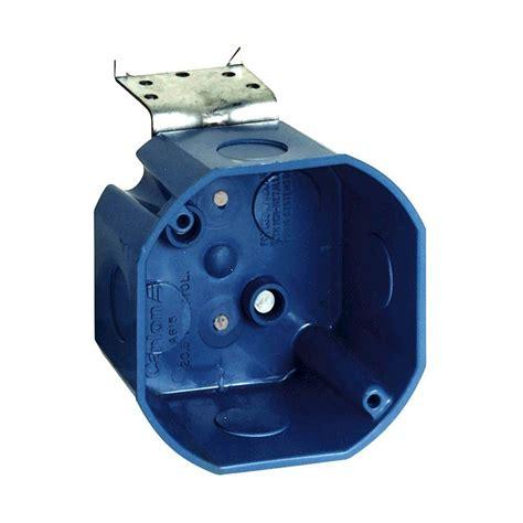 fan rated octagon box carlon 4 in x 4 in x 2 in pvc junction box e989nnj car