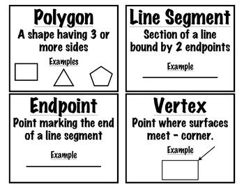 Printable Geometry Vocabulary Cards Grades 25 Free  Homeschooling  Math Pinterest