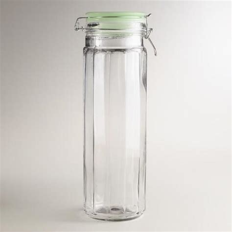 large glass jars with lids large glass cl jars with jadeite lids set of 4 8888
