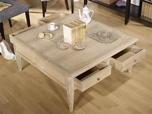 Table Chene Massif : table basse carr e justin em ch ne de style directoire ~ Melissatoandfro.com Idées de Décoration