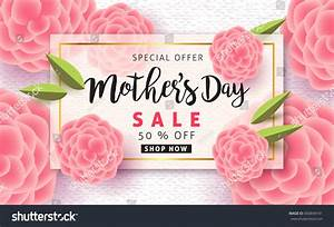 Mothers Day Sale Background Layout Beautiful Stock Vector ...