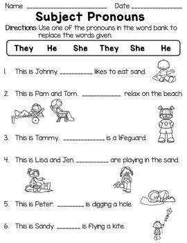 personal pronouns subject  object pronouns worksheets